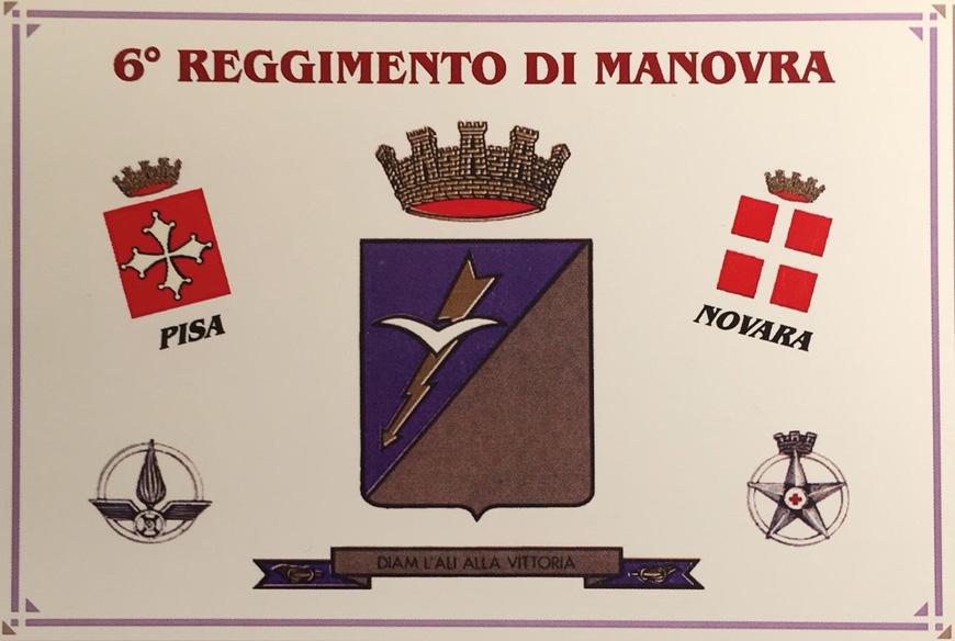 Cartolina 6° Reggimento di Manovra