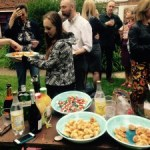 Cocktails and canapés in the Secret Garden