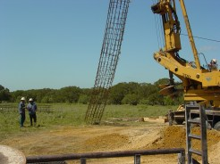 Hoisting rebar cage: Harwood, TX