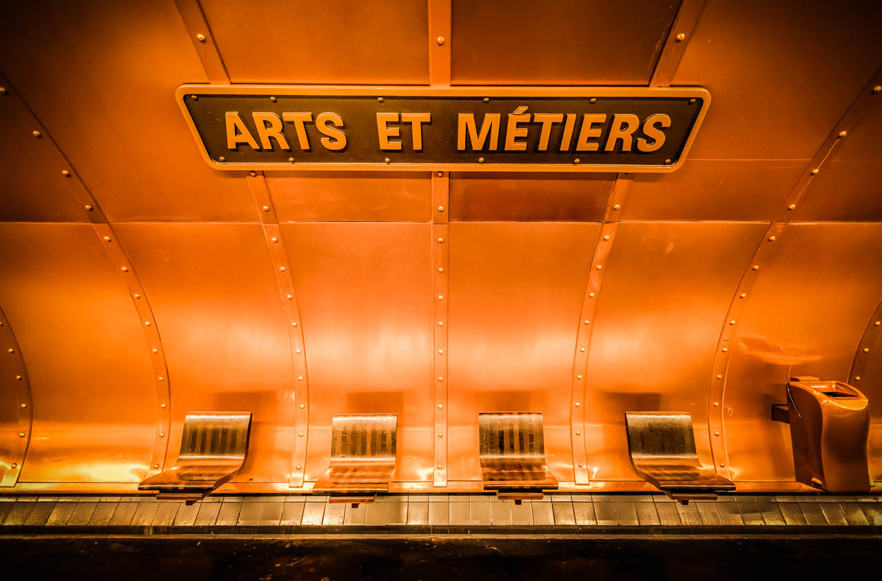 Arts et Metiers Paris Subway Station - Battered LuggageBattered ...