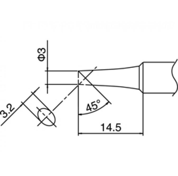 HAKKO T18-CF3 Shape-3C soldering tip for HAKKO FX-888D