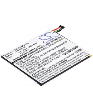 Batterie 3.8V 3.4Ah LiPo pour Acer Iconia One 7 B1-750