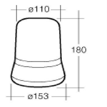 NARVA 85658A Optimax Rotating Beacon (Amber) Magnetic Base