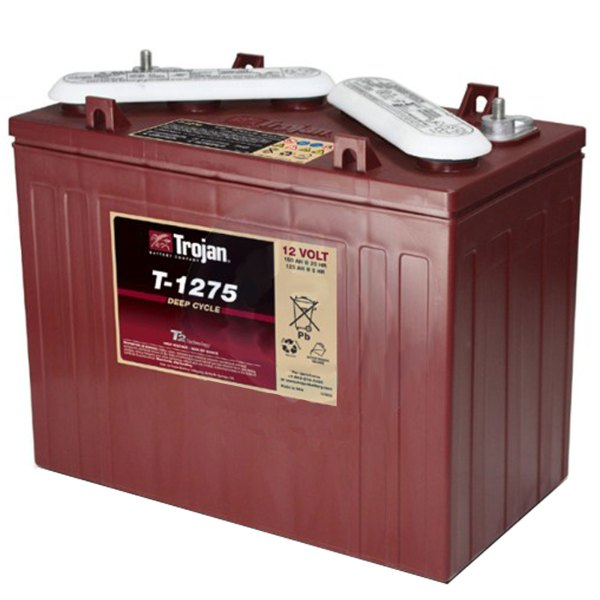 Trojan T-1275 12v 150ah Deep Cycle Flooded Lead Acid Golf Cart Battery 261901387670
