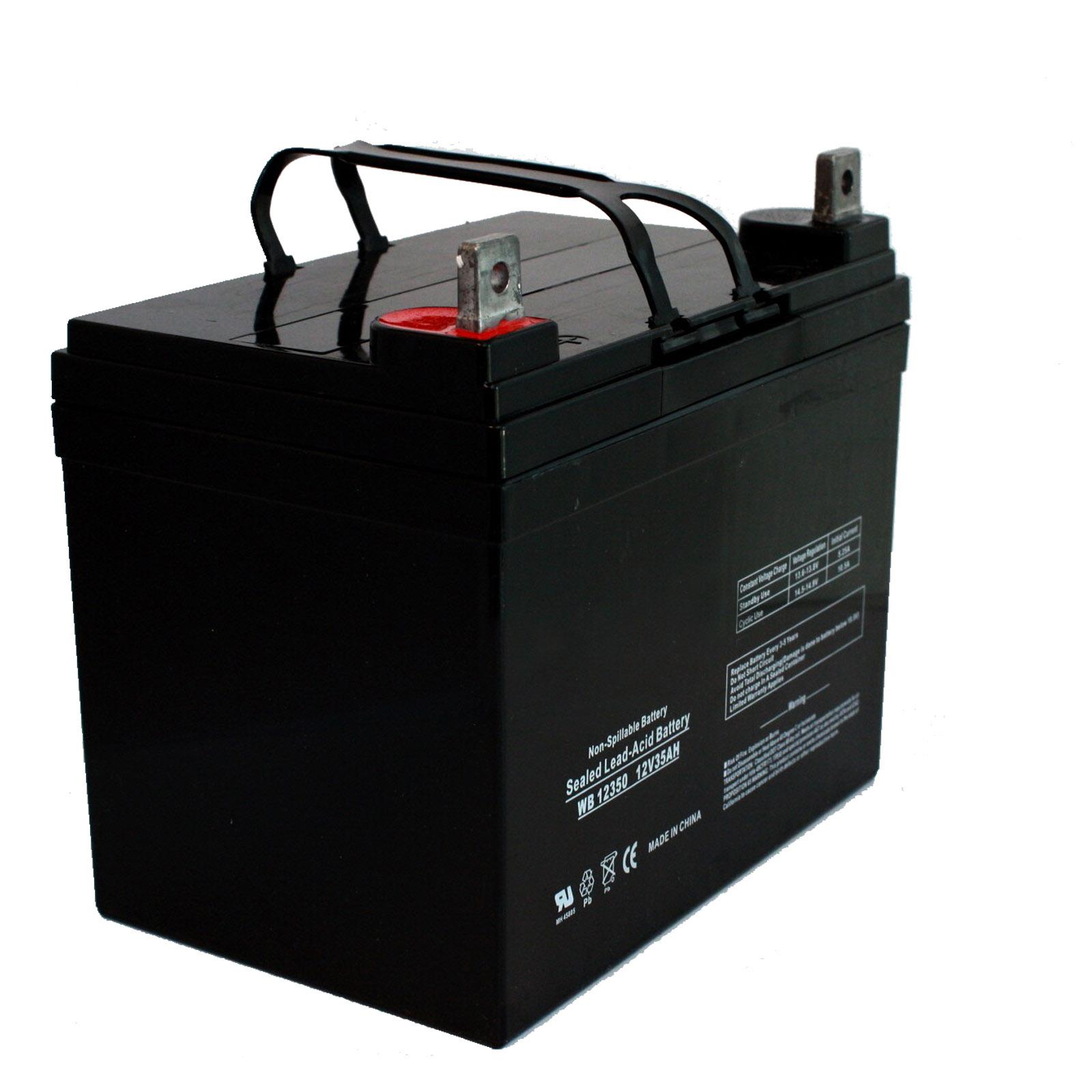 wheel chair batteries design within reach new 2pc 12v 35ah u1 sla agm wheelchair golf cart med