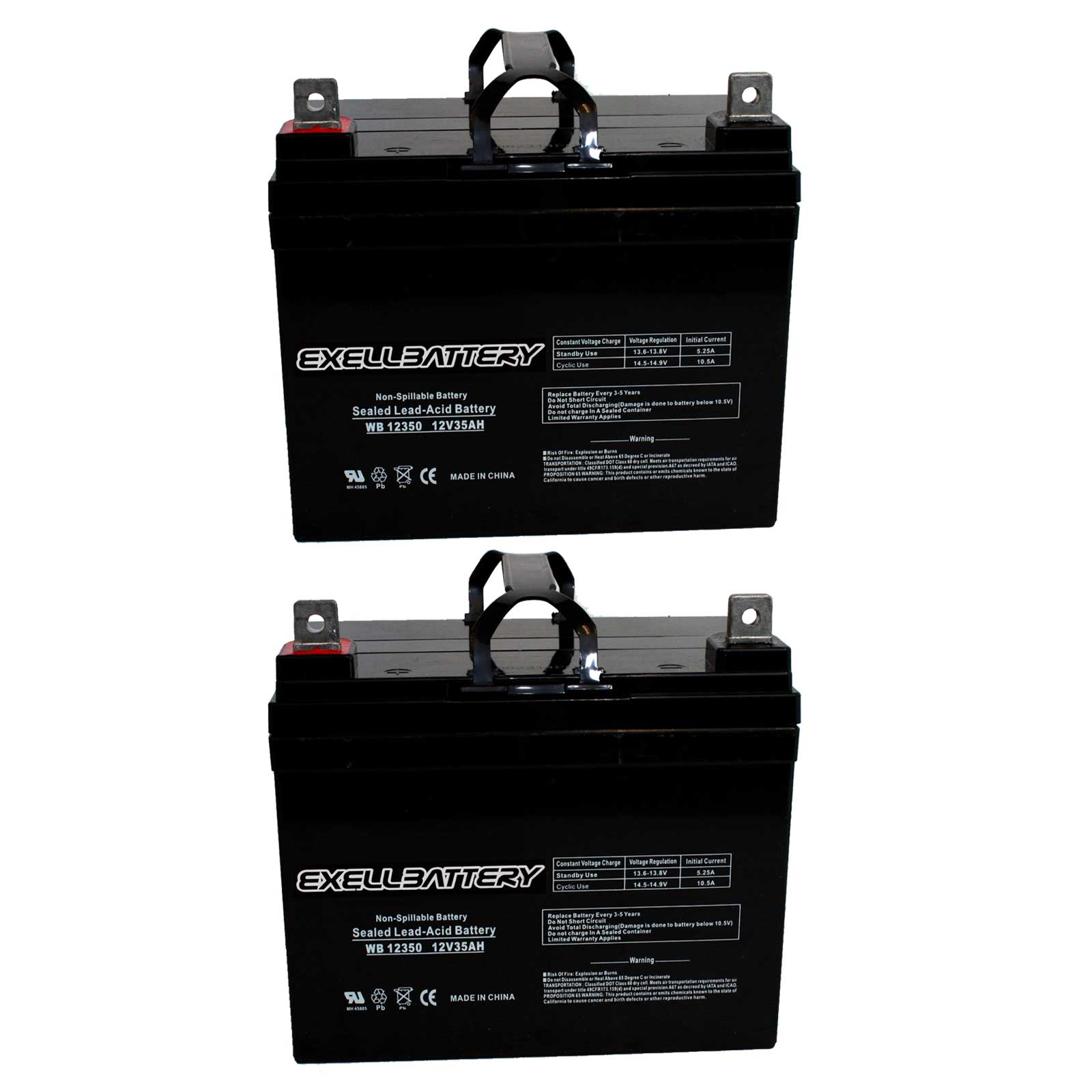 hight resolution of new 2pc 12v 35ah u1 sla jazzy select gt power chair scooter battery fast ship