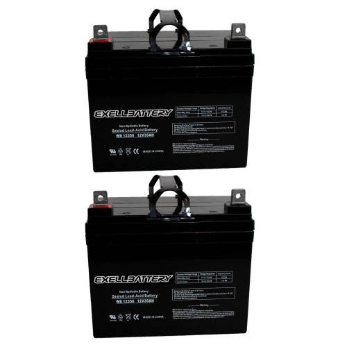 small resolution of new 2pc 12v 35ah u1 sla jazzy select gt power chair scooter battery fast ship