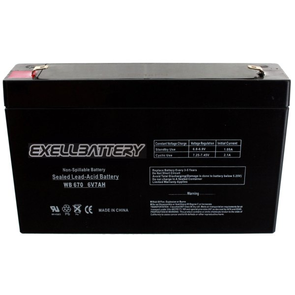 6 Volt Rechargeable Replacement Battery