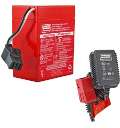 power wheels 6v red battery with charger free shipping batterymart com [ 1594 x 1594 Pixel ]