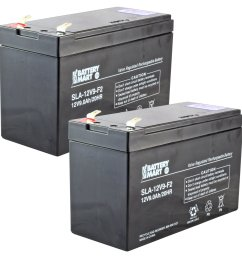 2 pack 12 volt 9 ah sealed lead acid rechargeable battery f2 terminal free shipping batterymart com [ 1600 x 1600 Pixel ]