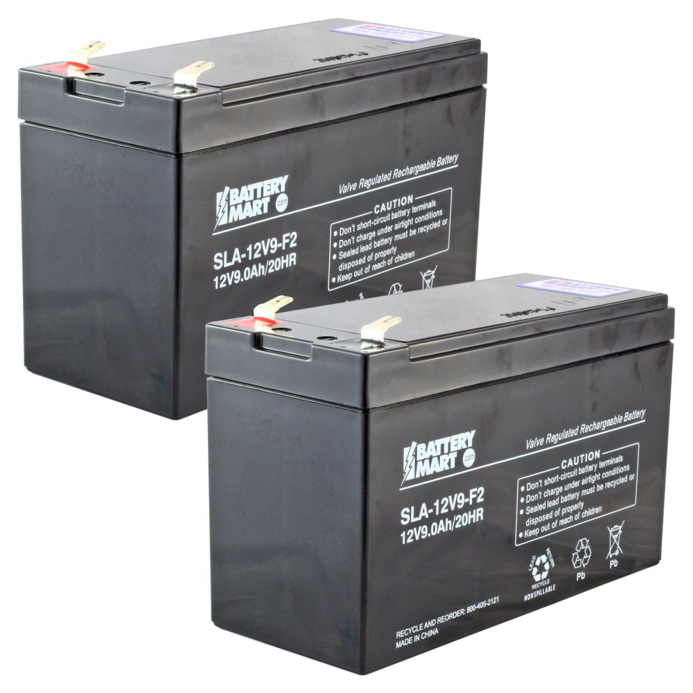 medium resolution of  2 pack 12 volt 9 ah sealed lead acid rechargeable battery f2 terminal free shipping batterymart com