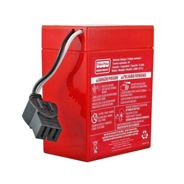Fisher 6 Volt Red Power Wheels Battery Sla 6v