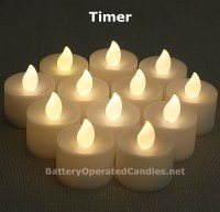Tall Flameless Tea Lights Warm White LED Battery Operated