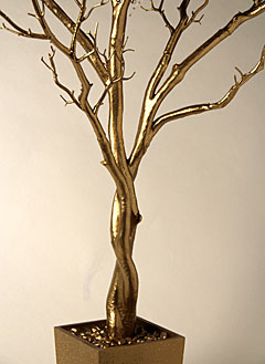 4 Foot Gold Tree in Decorative Pot  Bendable Branches  Buy Now
