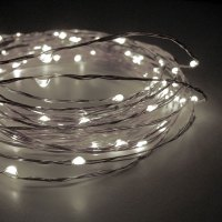 60 Cool White LED String Lights Battery Operated - 20 Feet ...