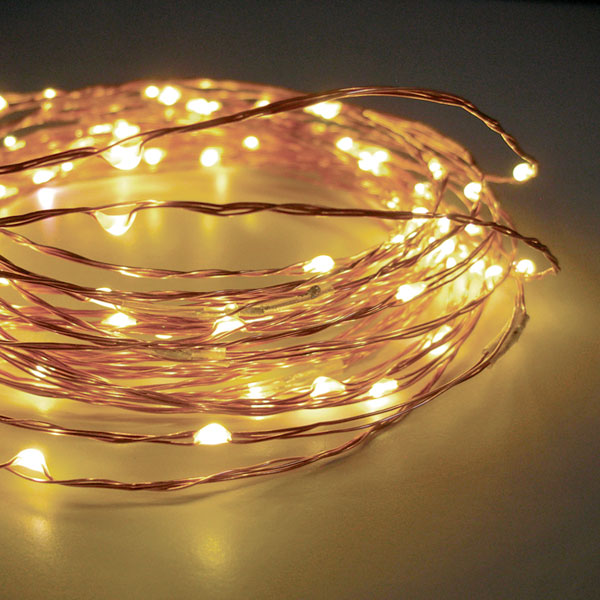 120 Warm White LED String Lights Flexible WireElectric 20