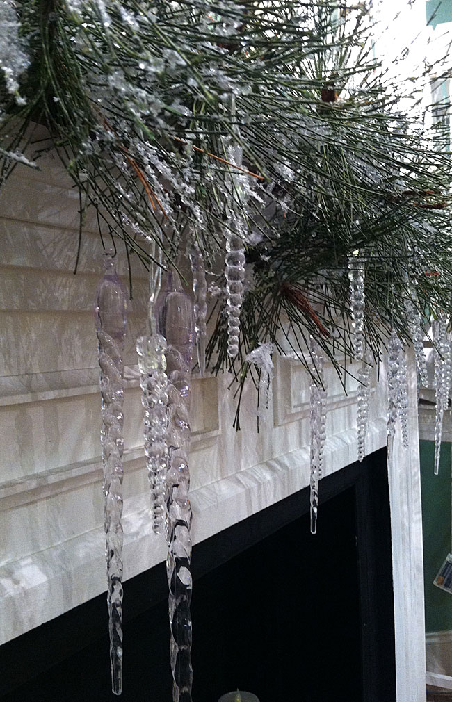 Battery Operated LED Icicle String Lights  5 Feet  Buy Now