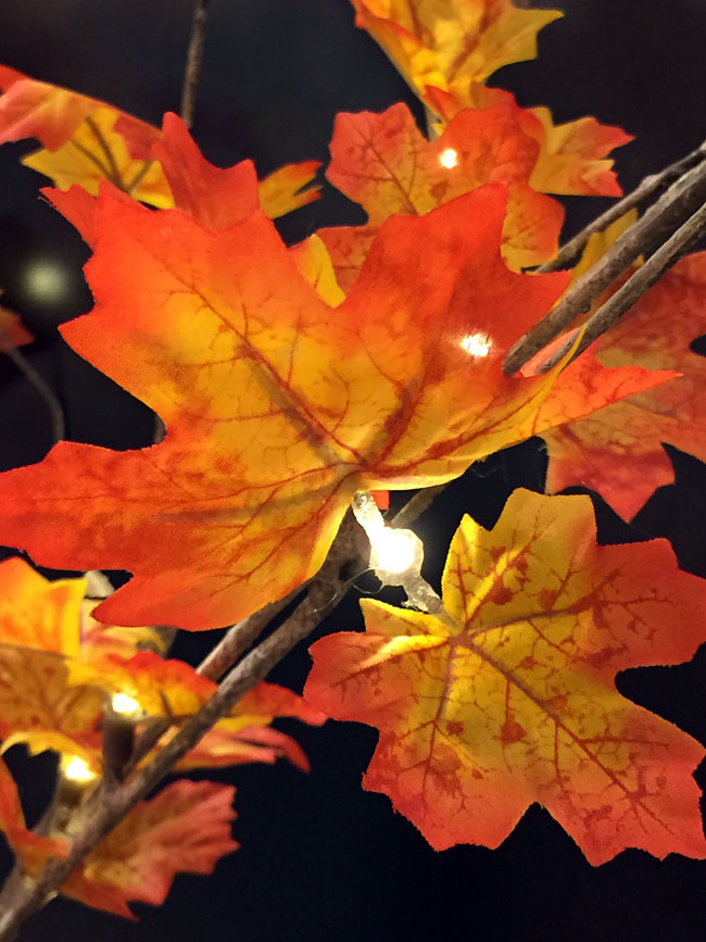 4 Foot LED Maple Tree  48 Lights  For Use Indoors and