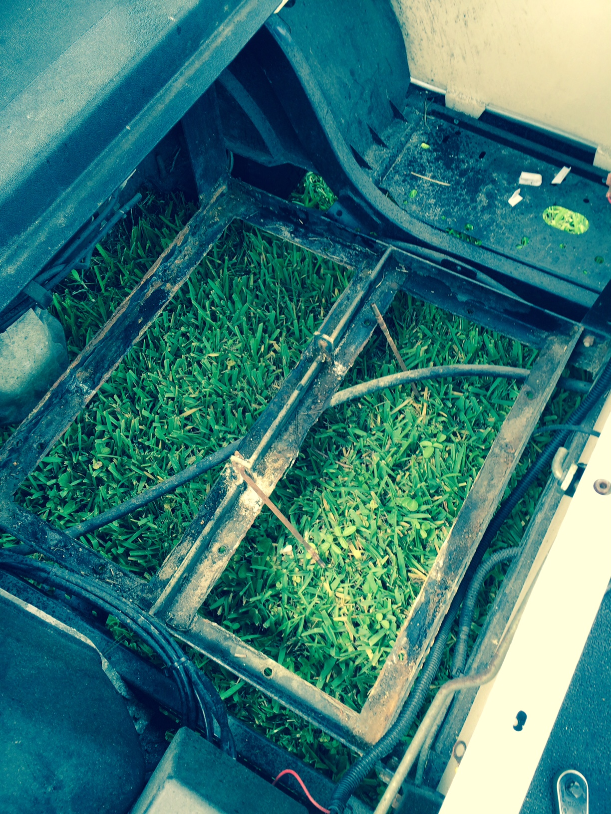 hight resolution of ezgo golf cart battery bank frame area batterypete com