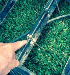 ezgo golf cart battery bank frame area inspection corrosion close up batterypete com [ 1224 x 1632 Pixel ]