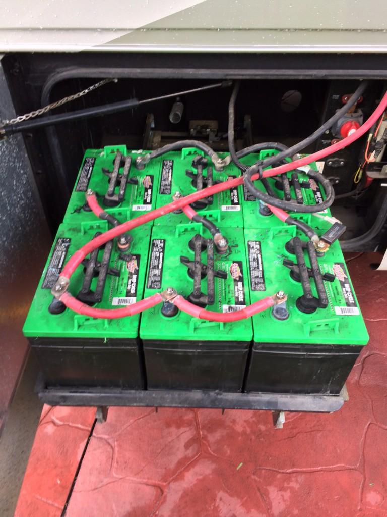 medium resolution of original battery bank 6volt golf cart batteries batterypete