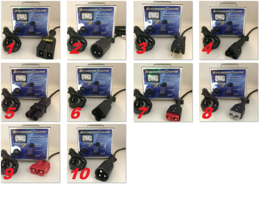 medium resolution of dpi 48 volt golf cart battery charger connector options numbered
