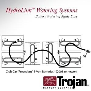 Trojan Hydrolink Battery Watering System Club Car Precedent 48V T875 T860  Battery Pete