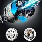Mélangeur de support multifonction, mélangeur de nourriture électrique de la tête d'inclinaison à 6 vitesses avec batteur de 5l de grande capacité, crochet de la pâte et fouet à fil, mélangeur de pâte