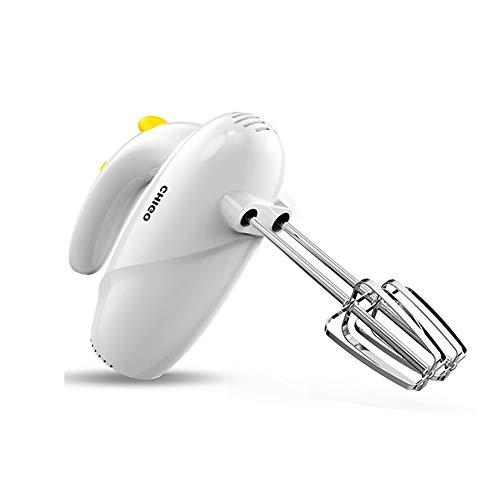 J-Robot Pâtissier Batteurs Sur Socle LB P-0668, 5 batteurs délais, en acier inoxydable malaxeurs et Handmixer de durabilité et de résistance, 120 W, blanc