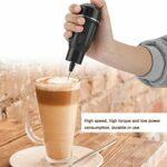 Mélangeur de nourriture tenu dans la main, mélangeur de nourriture de mousseur de lait de batteur d'oeufs tenu dans la main électrique de ménage noir