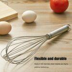 Mélangeur manuel d'oeufs, outil de mélange multifonctionnel de batteur d'oeufs de fil épais d'acier inoxydable 7 pour les assaisonnements, la farine et les oeufs