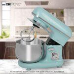 Clatronic Menthe-Vert a Pain petrin Professionnel Multifonction-Robot pâtissier/Pétrisseuse KM 3711 Rock'n'Retro, 5 liters, Mint-grün