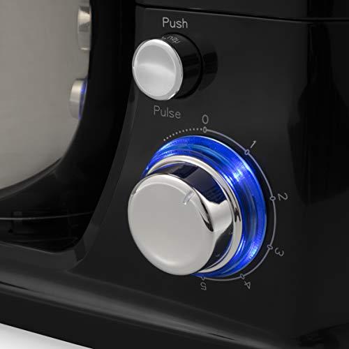 Robot Pâtissier Tristar MX-4837 noir - 4 L - 1 000 W - 6 vitesses - Acier inoxydable - Batteur, fouet et pétrin