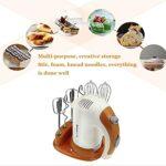 XTZJ Mélangeur à main 5 vitesses électrique, mélangeurs de main de cuisine de 300W Ultra Ultra Ultra avec 6 pièces jointes en acier inoxydable (2 batteurs câblés, 2 fouet et 2 crochets de douce) et ét