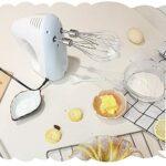 BMDHA Robot Pâtissier, Batteurs sur Socle, Moteur 300w, 5 Vitesses, avec Crochet Pétrisseur, Fouet Et Mixeur pour La Cuisson