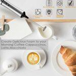 OMGOT Rechargeable Fouets à Lait, Machine à Mousse à Main éLectrique à Couple éLevé du Moteur, Fouet Foamer Drink Mixer pour Le Café Art, Cappuccino, Chocolat Chaud, Latte