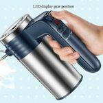 GANFANREN Batteur mélangeur électrique portatif avec 5 vitesses et bouton turbo comprend des batteurs robustes et des crochets à pâte