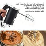 Mélangeur à main électrique, Portable Ordinateur de poche Acier inoxydable Fouet électrique, 5 vitesses Batteur à oeufs électrique avec 4 accessoires pour fouetter les blancs d'œufs Gâteaux Milk-shake