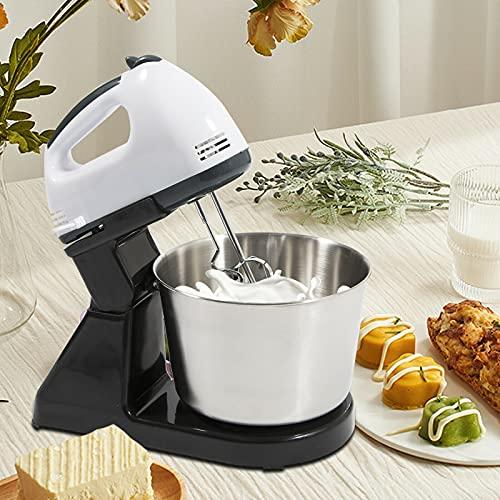 Robot de cuisine électrique 1,7 l – Mixeur – 7 vitesses – Fouet pour pâtisserie – En acier inoxydable