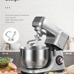 Robot pâtissier, Double Crochet 1200 W, 5,5 l Multifonction Planétaire, Professionnel Robot de Cuisine, 8 Vitesses