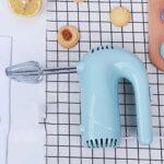 SMEJS Batteur à Oeufs électrique 5 Vitesses mélangeur à Main électrique Fouet Fouet de Nourriture Portable Mini Cuisine Oeuf mélangeur de Nourriture processeur Multifonctionnel