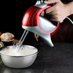 SMEJS Mélangeurs électriques 5 Vitesses mélangeur mélangeur de pâte de Haute qualité Batteur à Oeufs mélangeur Fouet en Spirale pour Outil de Cuisson de Cuisine
