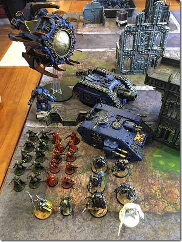 Thousand Sons vs Space Wolves & Imperial Fists