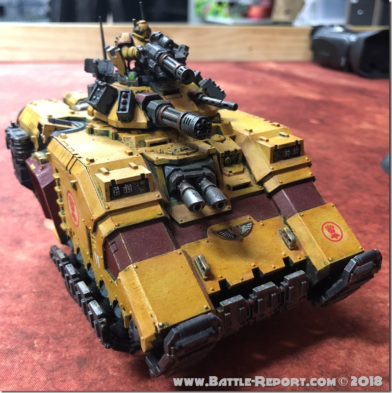 Imperial Fists Primaris Repulsor by David B