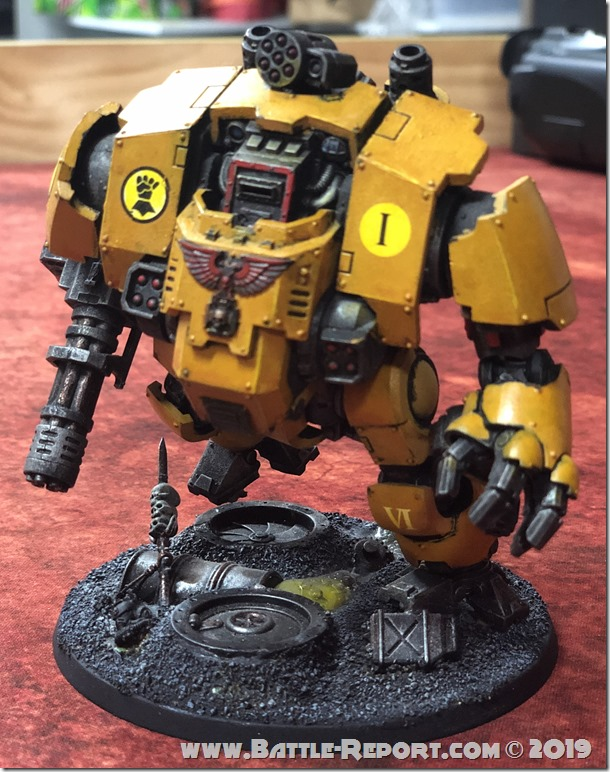 Imperial Fists Primaris Redemptor Dreadnought by David B