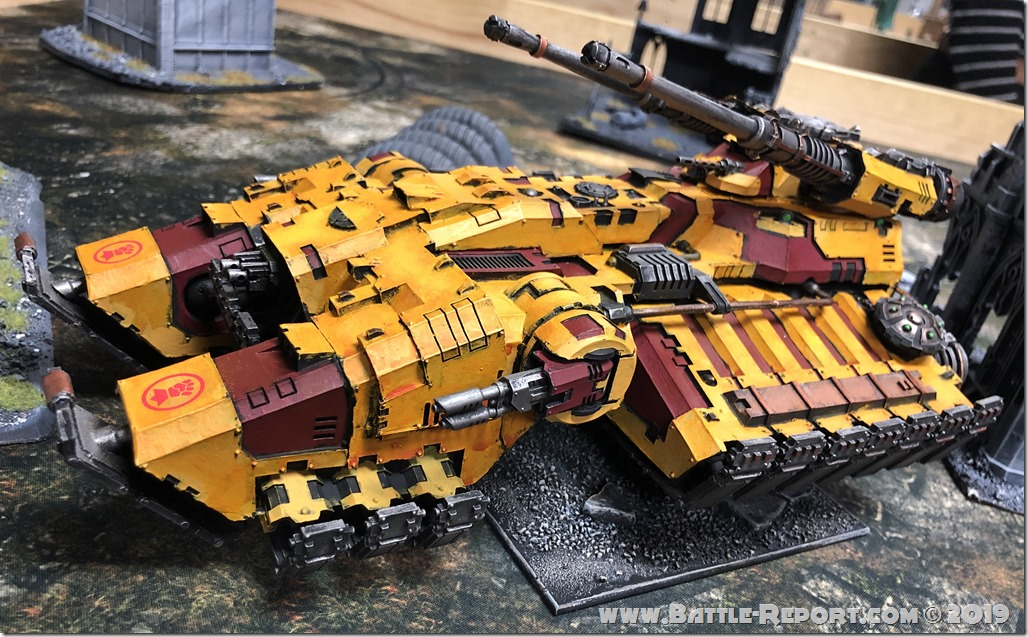Imperial Fists Astraeus Super-heavy Tank by David B