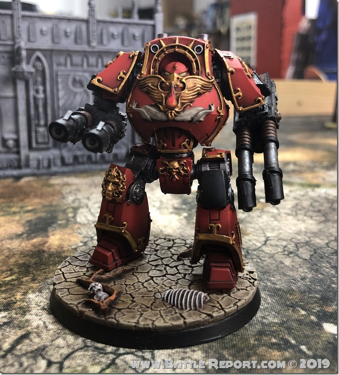 Blood Angels Contemptor Dreadnought by Andrew Z