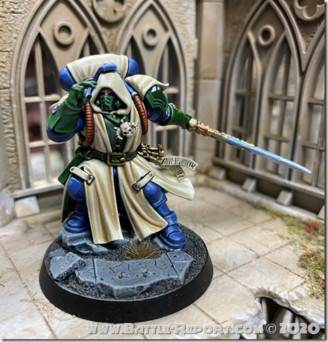 Dark Angels Primaris Librarian in Phobos Armour by Andrew Z