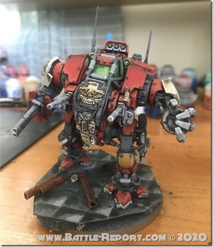 Blood Ravens Primaris Invictor Tactical Warsuit by John Batch