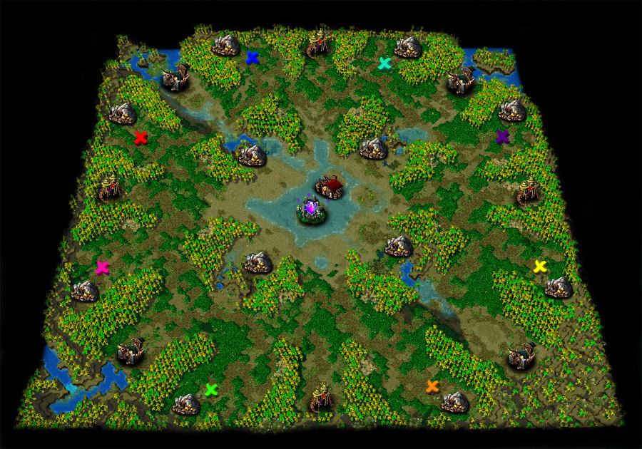 [正規] 推廣正規 團戰篇 地圖 - 看板 WarCraft - 批踢踢實業坊